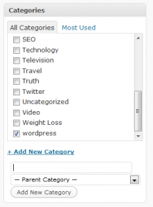 cant create categories in wordpress